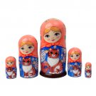 Maiden with Orange Tabby Cat Doll 5pc. - 5""