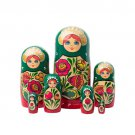 Volga Maiden Nesting Doll 7pc - 8""
