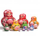 Happy Maidens Nesting Doll 10pc. - 4""