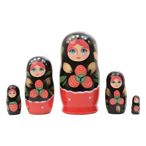 "Khokhloma Art Doll 5pc. - 4"""