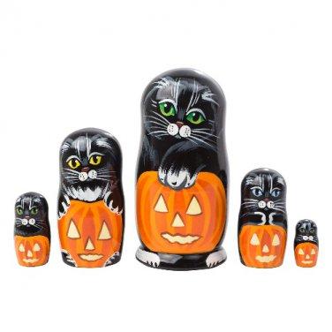"Halloween Cats 5pc. - 5"""