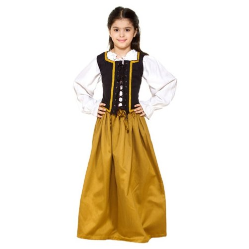 Cotton Medieval Skirt - Mustard, XX-Large