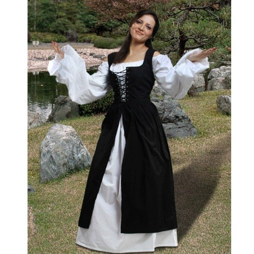 Ameline Country Maid Skirt w/Bodice � Black, Small