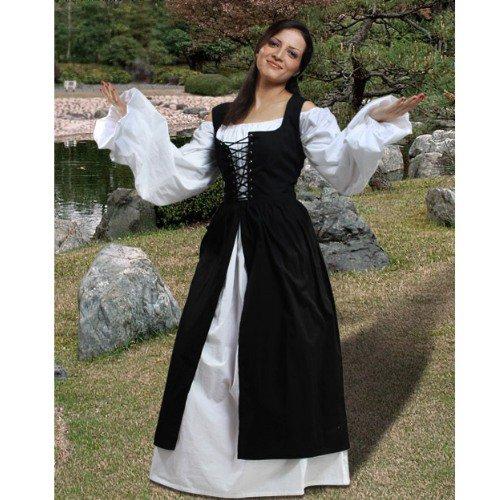 Ameline Country Maid Skirt w/Bodice � Black, X-Large