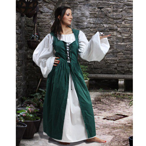 Ameline Country Maid Skirt w/Bodice � Green, X-Large