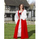 Fair Maiden's Medieval Overdress – Red, X-Large