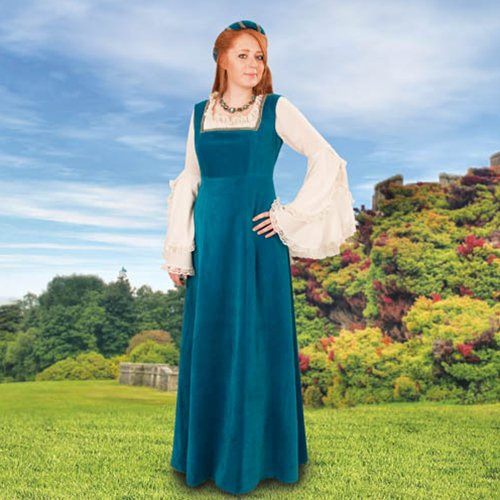Mulberry Faire Overdress, Teal � Small