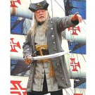Buccaneer Wool Pirate Coat - Grey, Large