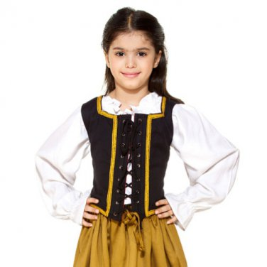 Reversible Pirate Bodice - Chocolate, Small