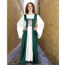 Fair Maiden's Medieval Overdress – Dark Green, X-Large