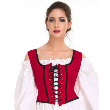 Decorated Wench Bodice � Red, X-Large