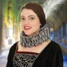 Elizabethian Ruff Collar - Silver