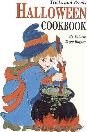Tricks Treats Halloween by Valarie Bagley Recipes Cats Bats Pumpkins Apples Parties 1994 SC Cookbook