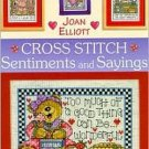 Cross Stitch Sentiments Sayings by Joan Elliott Patterns Pictures Cards Magnets Crafts HC Book