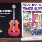 2 Book Lot Guitar Basics AND Blues Guitar Teach Yourself by Michael Christiansen SC Books