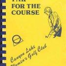 """Par"" For The Course Canyon Lake CA Women's Golf Club 1978 SC Cookbook"