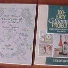 Lot 2 CALLIGRAPHY Pictorial Scrollwork Lettering Books 1633 Reprint Plus Basic Skills SC Books
