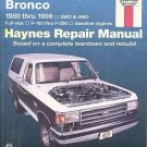 Haynes Ford Pick-Ups and Bronco 1980 To 1996 Repair Tuneup Manual SC Book
