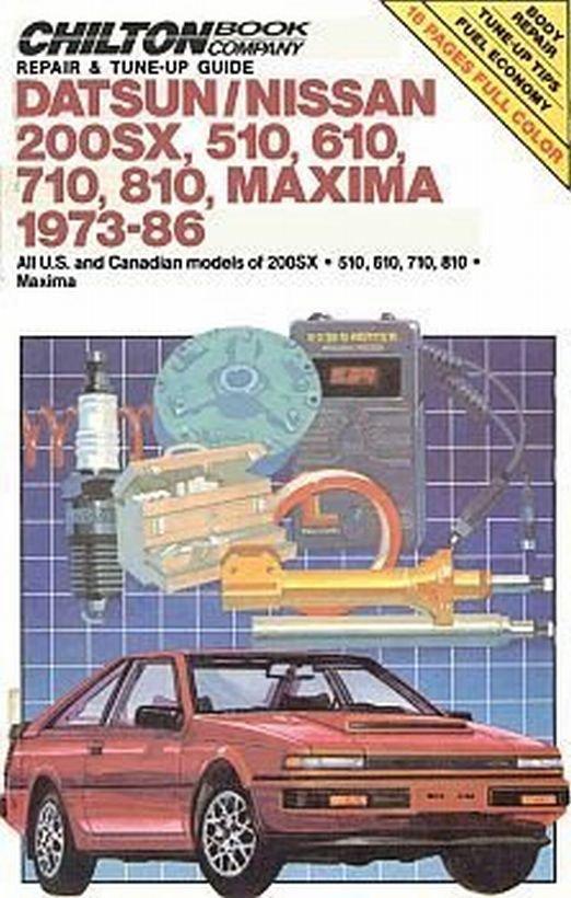Chilton Datsun Nissan 1973-1986 USA Canadian Maxima Repair Tuneup Manual HC Book