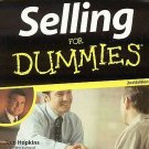 Selling For Dummies by Tom Hopkins Learn How to Sell Guide Sales Skills Career SC Book