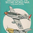 Airplanes of the Second World War Coloring Book by Carlo Demand From Dover Publications