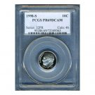 1998-S 1998S ROOSEVELT DIME CERTFIFIED PCGS PR69 DCAM PF69 UC