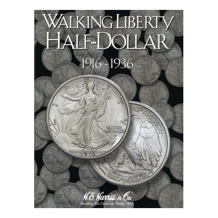HARRIS FOLDER - WALKING LIBERTY HALF DOLLARS - BOOKS 1&2 - 1916-1947 - SLOTS FOR COMPLETE COLLECTION