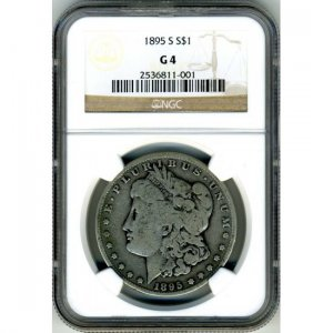 1895-S 1895S MORGAN DOLLAR - 90% SILVER - KEY DATE - G4 - NGC CERTFIED - INCLUDES INSURED SHIPPING