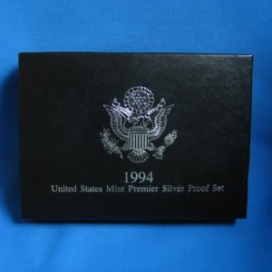 1994 PREMIER SILVER PROOF SET WITH ORIGINAL GOVERNMENT PACKAGING AND COA - SHIPPING INCLUDED