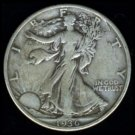 1936 WALKING LIBERTY HALF DOLLAR - 90% SILVER - VF