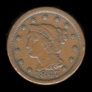 1847 CORONET LARGE CENT - VG10 - CHOCOLATE BROWN PATINA - EXCELLENT EYE APPEAL