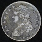 1835 CAPPED BUST HALF DOLLAR - 90% SILVER - VF20 - VERY FINE - FREE SHIPPING & INSURANCE