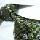 PAUL 100% silk tie,green SW1512
