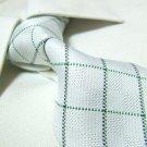 100% silk tie,white check SW1534