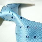 100% Silk light blue neck tie SW1104