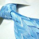 100% Silk blue neck tie SW1125,100% wool lining