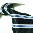 100% silk black stripe neck tie SW1158