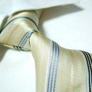 Yellow stripe silk neck tie SW1030