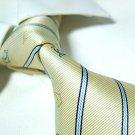 Light golden stripe silk necktie SW965