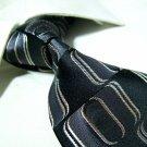 Pure silk black necktie SW1622