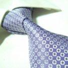 Pure silk tie SW1745,purple/silver circles