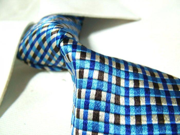 Pure silk tie SW1748,blue check