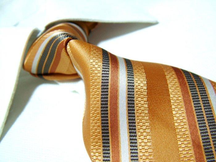 100% silk tie SW1833,orange stripe