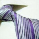 100% silk tie SW2639,purple stripe