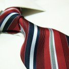 100% polyester tie PL06,extra-long red/white stripe