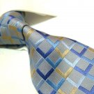 100% Silk Tie SW2869,Mixed color check