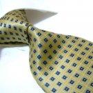 100% Silk Tie SW2881,golden check