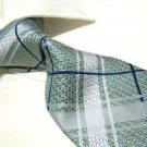 100% Silk Green check Tie SW2895