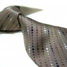 100% Silk Tie SW2905,Coffee stripe
