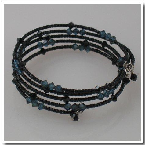 Black Spiral Bracelet